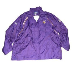 NFL Minnesota Vikings Purple Windbreaker Jacket MN